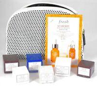 Fresh Skincare Travel Gift Set Mixed Lot W/ Bag 8 PC Rose Black Tea Lotus NEW!