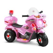 RIGO Kids Ride on Motorbike Motorcycle Patrol Battery Electric Toy Police Pink