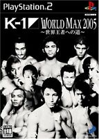 USED PS2 K-1 WORLD MAX 2005 road-to-world champion PlayStation 2 93204 JP IMPORT