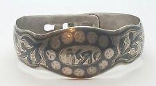 Vintage Antique Sterling Silver Siam Style Middle Eastern Ladies Bracelet