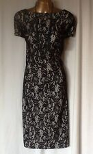 Black Lace Dress Wiggle Shift Knee Length Size 22