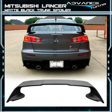 Fit 08-15 Mitsubishi Lancer Evolution X EVO 10 ABS Trunk Spoiler Unpainted Black