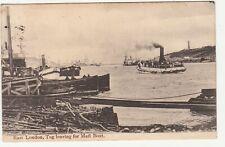 CGH: EDVII Postcard, East London, Tug Leaving for Mail Boat, 25 Dec 1905