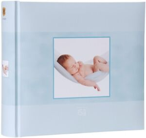 HENZO Baby Einsteckalbum Junge Blau Babyalbum Babyfotoalbum Fotoalbum 200 Fotos