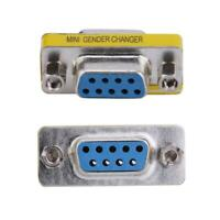 2pcs DB9 Female to Female Adapter Gender Changer Serial RS232 Coupler Good