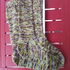 Gorgeous Hand Knitted Medium Sized Green Socks