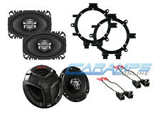 GM EXTENDED & REGULAR CAB TRUCK STEREO FRONT & REAR SPEAKERS W MOUNTING BRACKETS