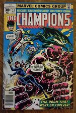 Champions (1975) #13 - Very Good - Black Widow, Ghost Rider, Angel, Iceman Byrne