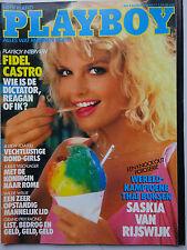Playboy NL 8/1985, Lesa Ann Pedriani, Saskia van Rijswijk, Bond Meisjes