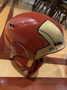 Anon Burner Avengers Iron Man Kids Ski/Snowboarding Helmet YOUTH L/XL