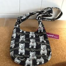 Signare west highland terrier messenger cross body Bag The Art Of Tapestry BNWT
