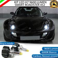 KIT A LED H7 SMART ROADSTER 452 CANBUS 6000K XENON 9600 LUMEN 80W NO AVARIA LUCI