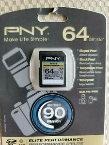 PNY 64GB Elite Performance Class 10 U1 SDXC Flash Memory Card