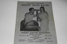 Midget Auto Races Program, Fresno Airport Speedway, Sept 22 1946, Original
