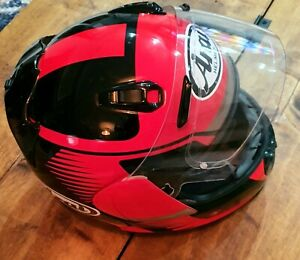ARAI REBEL Full Face Helmet. Size Large. Red/Black. Condition - Used.