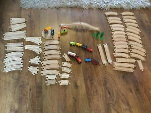 Brio Wooden Train-set With A Selection Of Compatible Track And Other Accessories