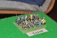 15mm medieval / english - men at arms 12 figs - cav (56604)