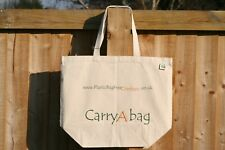 BRANDED ECOBAG Recycled Cotton Canvas Tote/Shopping Bag With long Handles