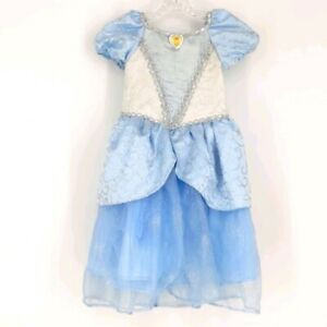 Disney Parks Deluxe Princess Cinderella Blue Silver Costume Dress Size XS 4 5