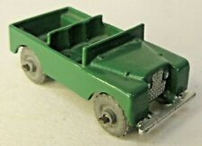 Matchbox #12-a LAND ROVER JEEP green gray metal wheels diecast High-Grade