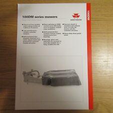 Massey Ferguson 100 DM 100 DM Series Disque cutterbar Tondeuse marché du Royaume-Uni Brochure 1995