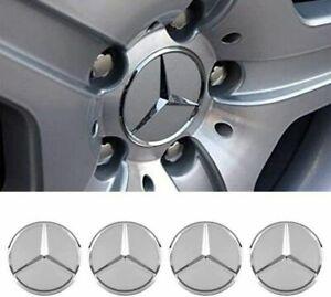 4x Wheel Center Caps fit Mercedes Benz Emblem Logo 75mm Benz Wheel Rim Hub Caps
