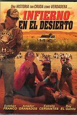 INFIERNO EN EL DESIERTO  DVD  [ESTEBAN FRANCO & ESTRELLA CERVANTES]  NEW
