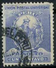Peru 1896-1900 SG#335, 1c Ultramarine, Atahualpa Used #E1250