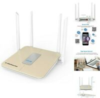 AC 1200Mbps WiFi Wireless Router Smart App Access Point w/ 4 External Antennas