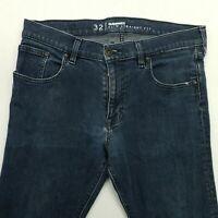 Quiksilver  Mens STRETCH Jeans W31 L32 Blue Slim Skinny