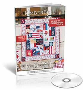 Kimberbell Featured Quilt Red, White & Bloom Machine Embroidery Design CD, Co...