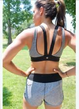 New! Lululemon speckled gray  strappy Fitness Yoga Bralette top sz 6 NWT