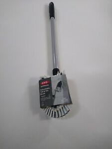 OXO EXTENDABLE TUB & TILE BRUSH DEEP CLEAN BRUSH SET LONG SHOWER CLEANING BRUSH