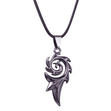 Leather Pendant Necklace For Men Trendy Dragon Flame Titanium Stainless Steel