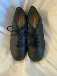 Capezio Tele Tone Tap shoes Blace Leather upper lace top 4M youth