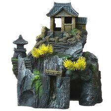 Blue Ribbon Pet Products Asian Cottage House with Bonsai Ornament