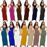 Women Sleeveless Tank Tops Jersey Long Dress Casual Party Bodycon Maxi Dresses