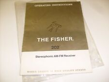 Vintage Fisher Am Fm 202 Stereophonic Am Fm Receiver Owners Operating Manual /j1