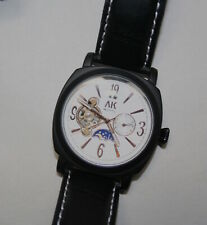 Alias Kim AK Homme  Automatic Mens Watch with Leather Band NIB