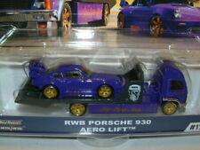 1/64 Hot Wheels Equipo transportadores Rwn Porsche 930 & Camión Plano