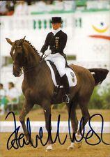 Isabell Werth Deutschland Olympia Gold 1992 Reiten original Autograph (Flo-7576