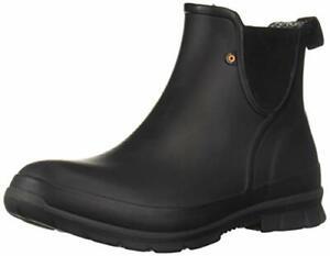 Bogs Women's Amanda Slip On Waterproof Rain Boot Black 9