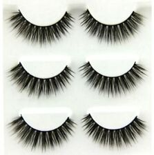 Hand made 100% Real Mink Luxurious Natural Thick Soft Lashes False Eyelashes ☆