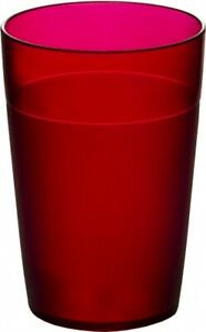 Set of Roltex Unbreakable Reusable Polycarbonate Plastic Kids Tumblers Red