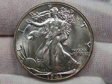 GEM BU 1943 Walking LIBERTY Half Dollar - White w/ Light Toning.  #4