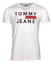 Tommy Hilfiger Men's Graphic Cotton Tommy Jeans T-Shirt - Regular Fit - White