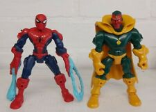 Vision & Spiderman Marvel Super Héroes desmenuzadora Figura Hasbro Raro 2013