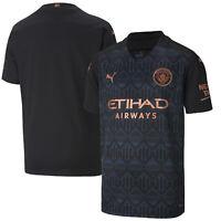Puma Kids Manchester City Football Soccer Away Shirt 2020-21 -  Short Sleeve