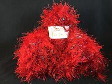 Moda Dea Fur Ever Yarn Lot 6 Skeins - RED HOT - 50g Fancy Eyelash