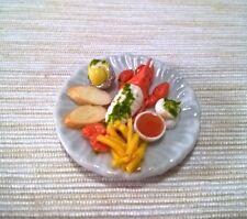 Set Lobster Cream Sauce. Clay Ceramic Dollhouse Miniatures Food  Groceries Decor